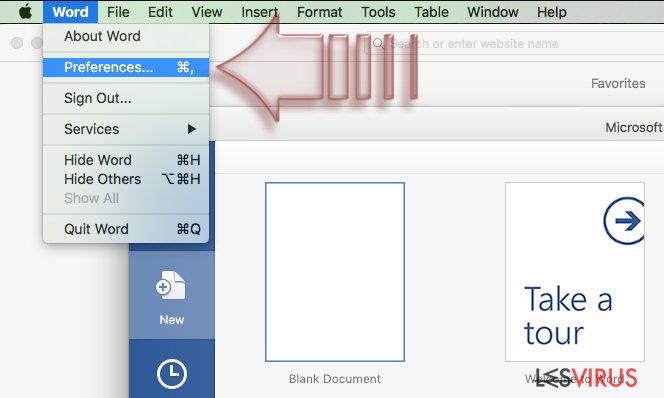 Disable Macros on Mac OS X. Step 1
