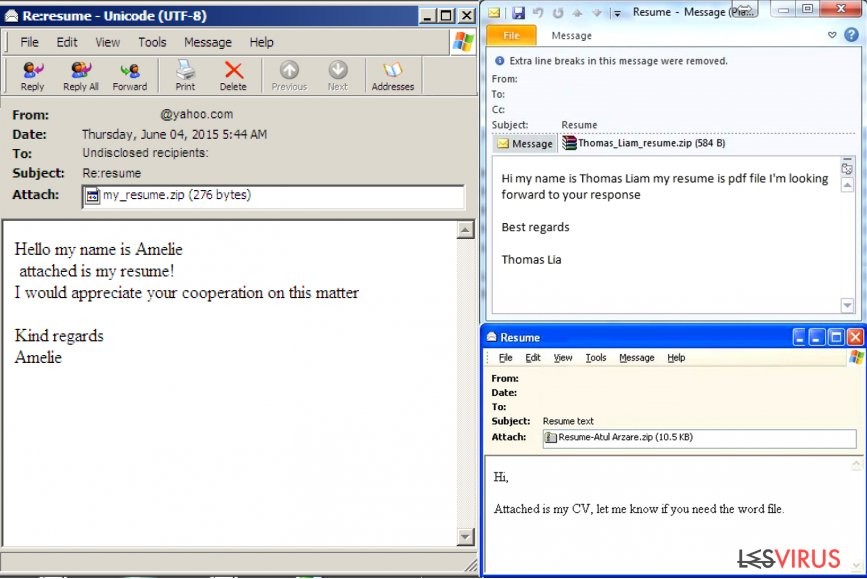 Wie erkennt man eine E-Mail mit einem Virus?-Screenshot