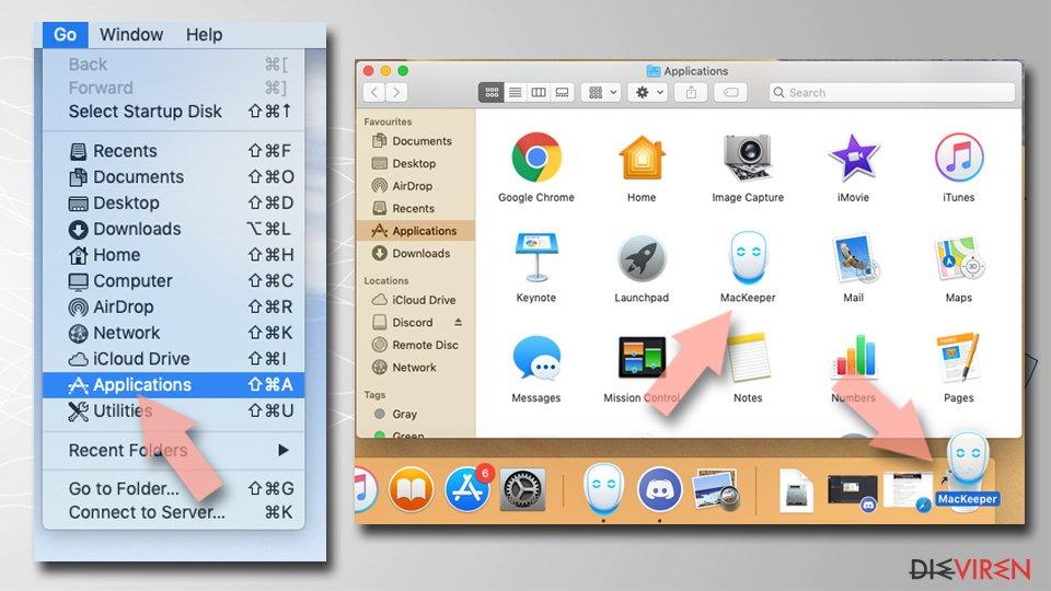 Deinstallieren auf dem Mac