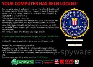 Das FBI rät von dem Internet-Virus weg zu bleiben, der es imitiert