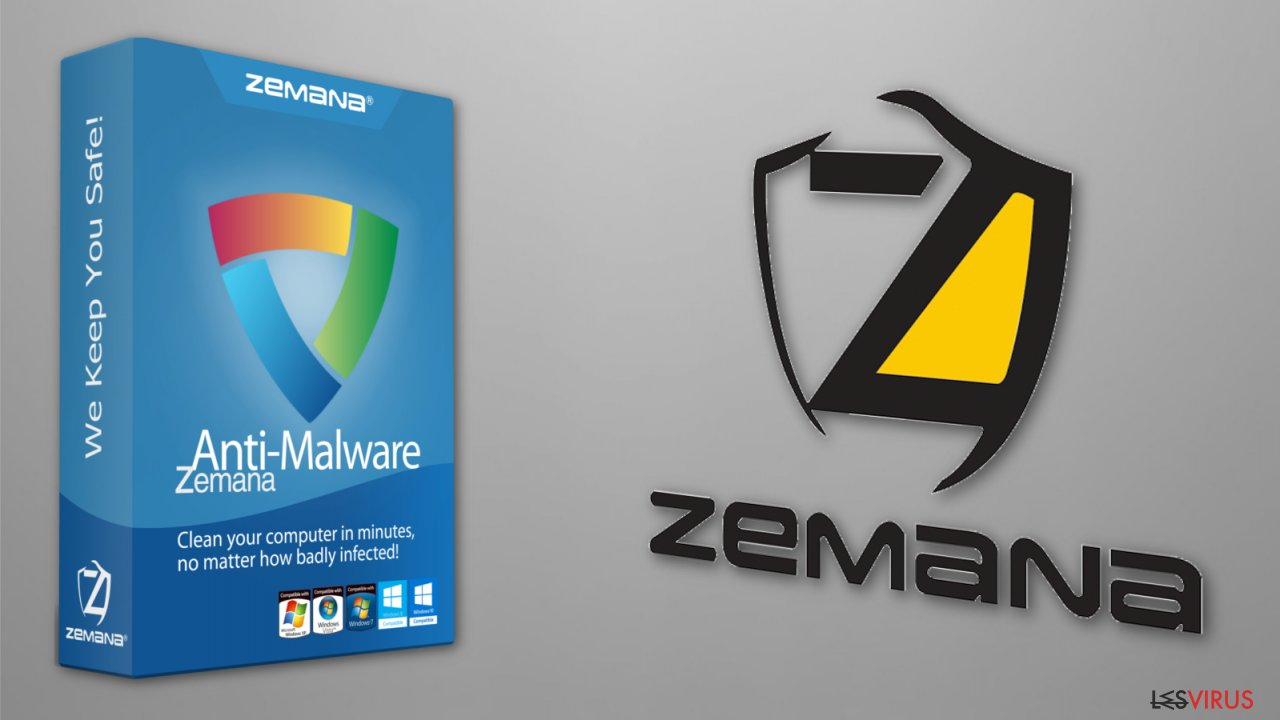 The illustration of Zemana Antivirus software