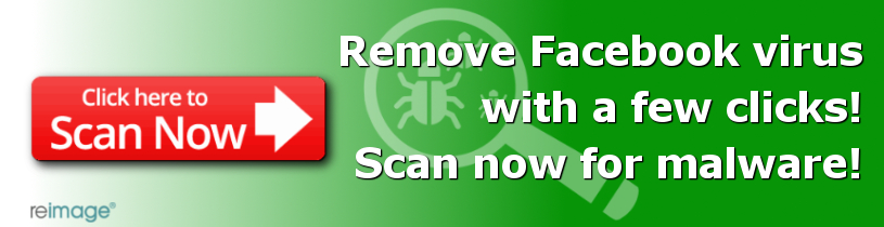 Remove Facebook virus with Reimage