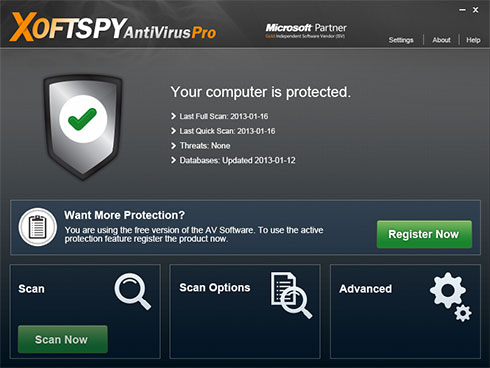 XoftSpySE Anti Spyware-Screenshot