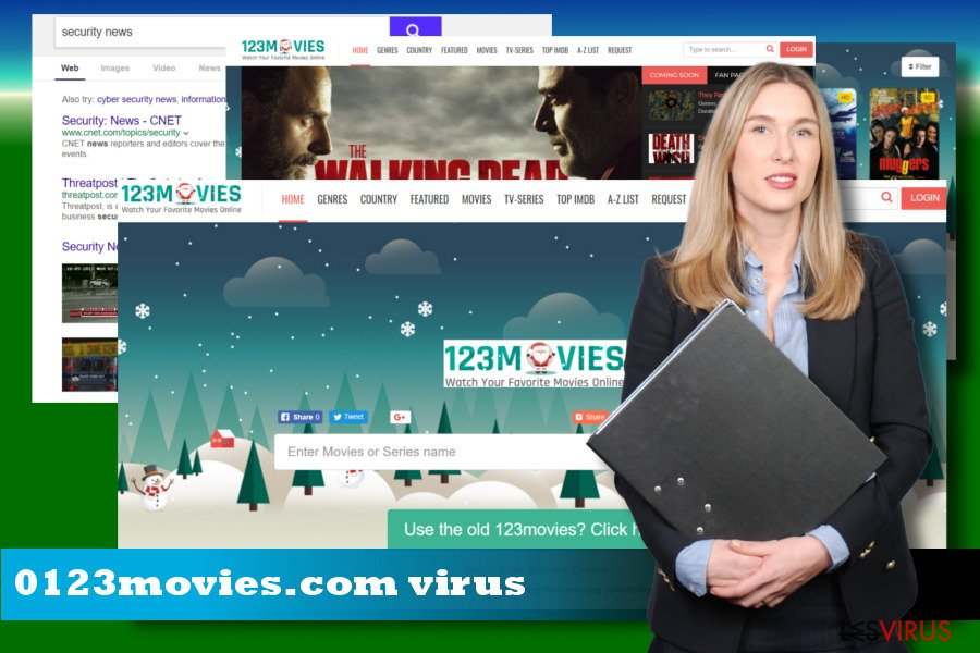 Illustration des Browser-Hijackers 0123movies.com