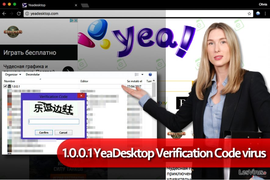 """1.0.0.1 YeaDesktop Verification Code""-Adware"