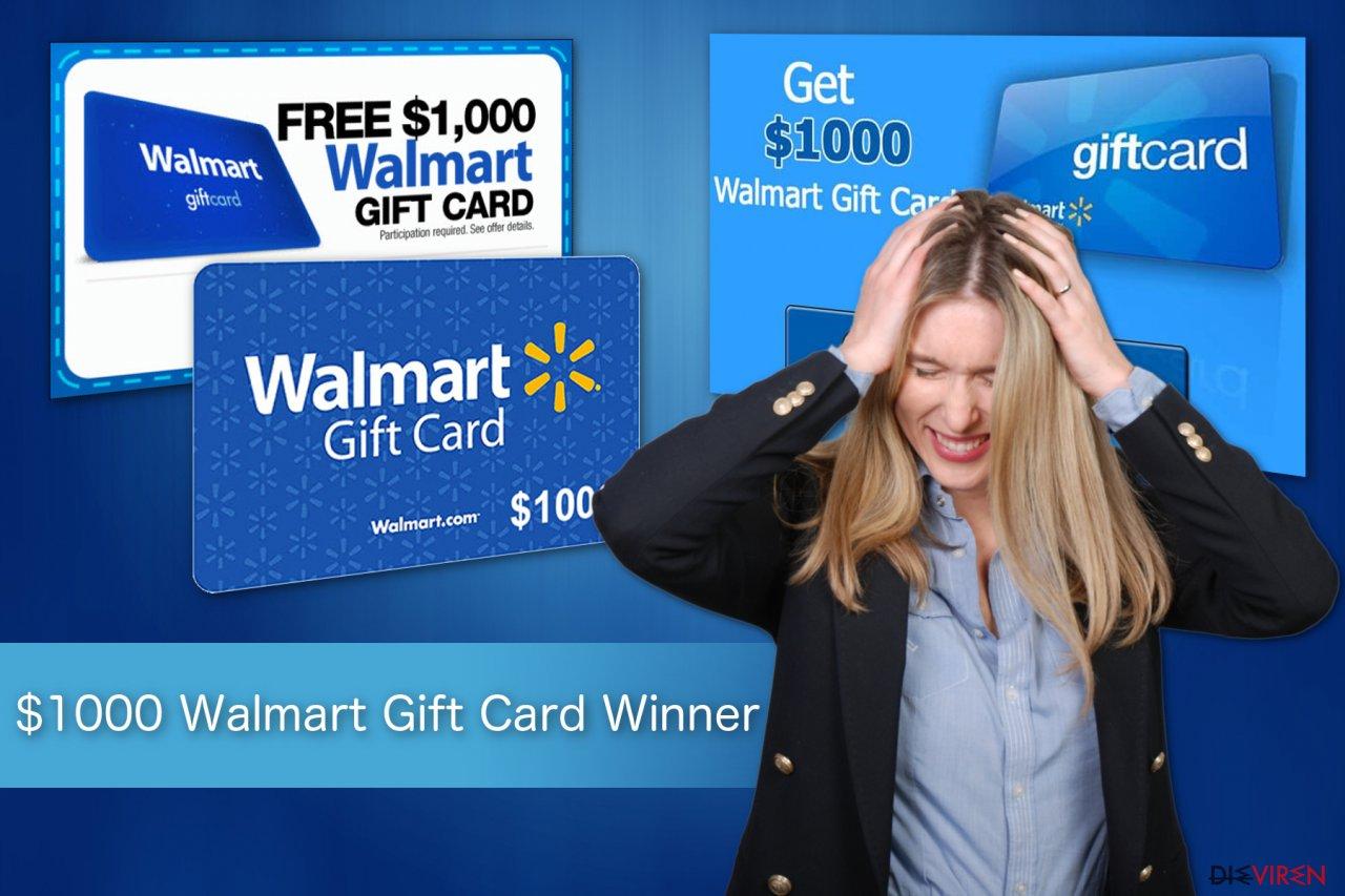 """$1000 Walmart Gift Card Winner""-Betrug"