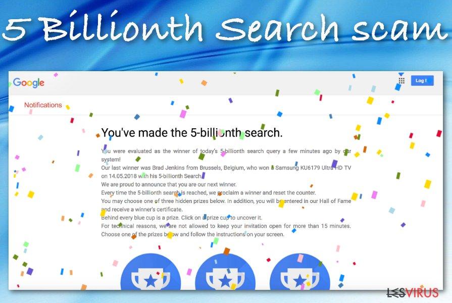 5 Billionth Search Scam