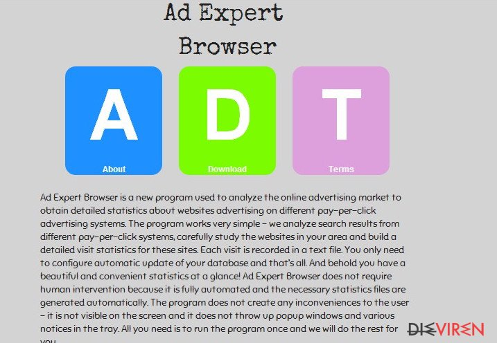 Ad-Expert-Browser-Virus-Screenshot