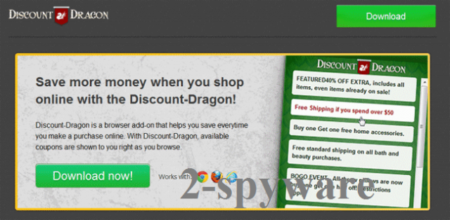 'Ads by Discount Dragon'-Virus-Screenshot