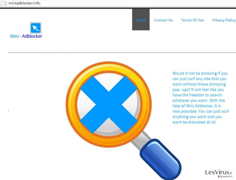 Anzeigen von Mini Adblocker-Screenshot
