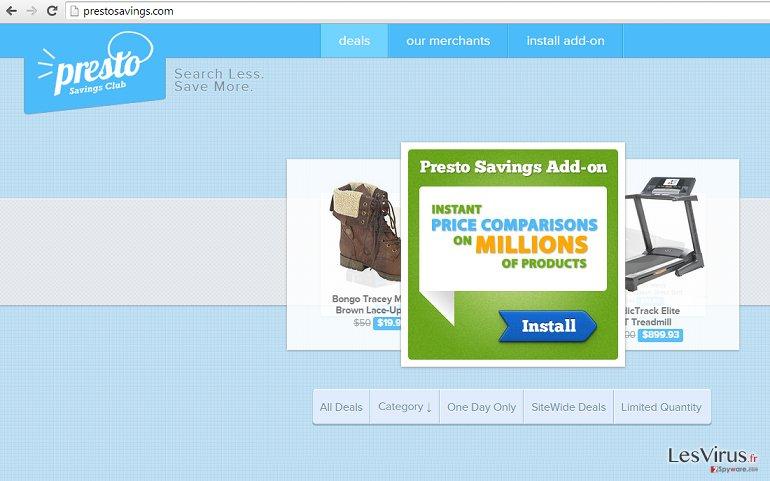Anzeigen von PrestoSavings-Screenshot