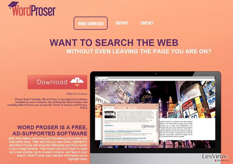 Anzeigen von WordProser-Screenshot