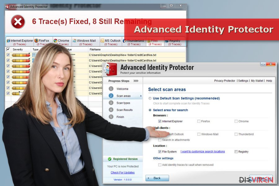 Ein Scan von Advanced Identity Protector
