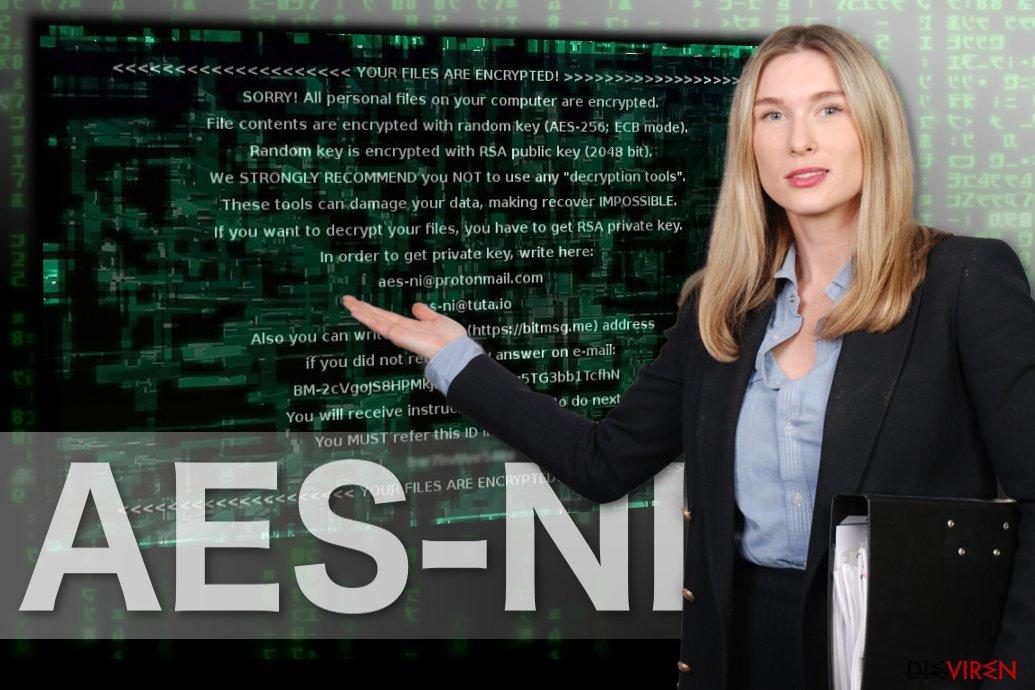 Abbildung AES-NI-Erpressungsprogramm