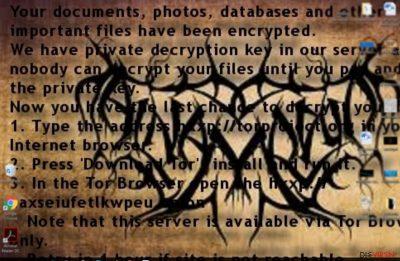 Der Erpresserbrief des Erpressungsprogramms Al-Namrood