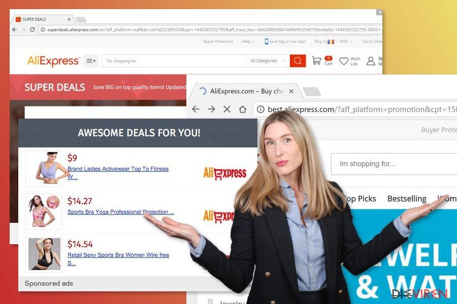Abbildung AliExpress-Adware