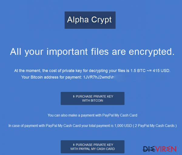 Alpha Crypt-Screenshot
