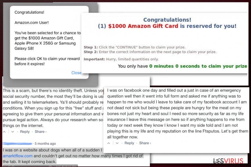 Amarktflows gefälschte Belohungskampagne