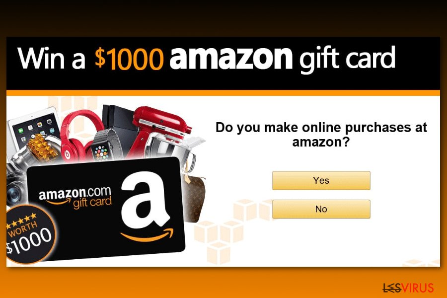 Amazon Gift Card survey scam example