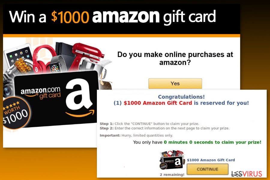 """Amazon Gift Card""-Virenbeispiel"