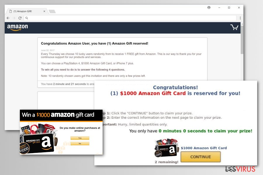 Amazon-Rewards-Event-Schadsoftwareversionen