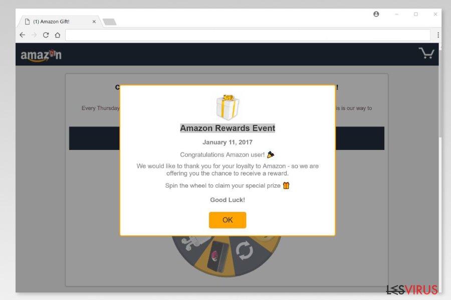 """Beispiel für einen """"Amazon Rewards Event""""-Betrug"""