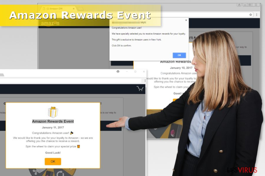 "Illustration für ""Amazon Rewards Event""-Betrug"
