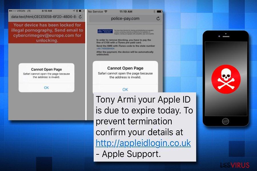 Apple-Virenbetrüge auf iPhones
