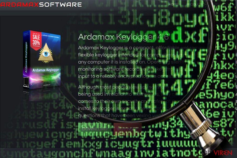 Abbildung vom Ardamax-Keylogger