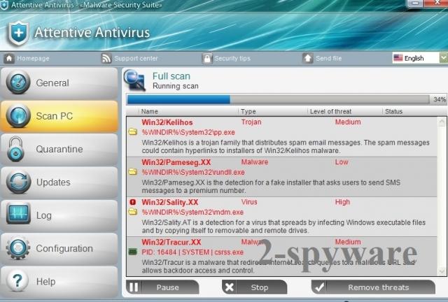 Attentive Antivirus-Screenshot