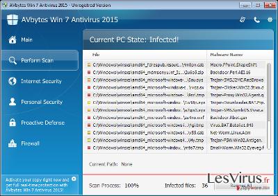 AVbytes Win 7 Antivirus 2015-Screenshot