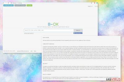 Die Webseite B-ok.org