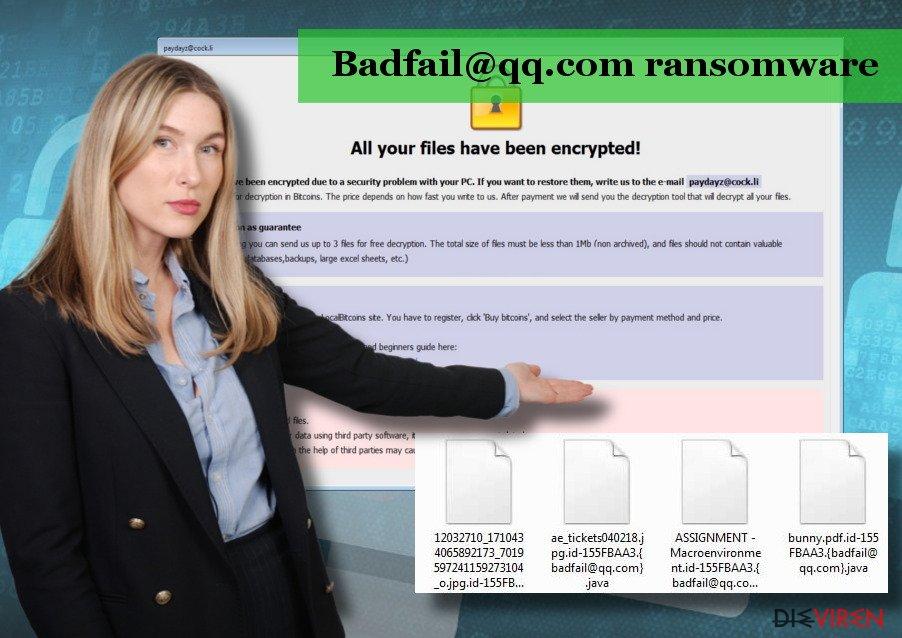 Der Badfail@qq.com-Virus ist eine Version der Arrow-Erpressersoftware