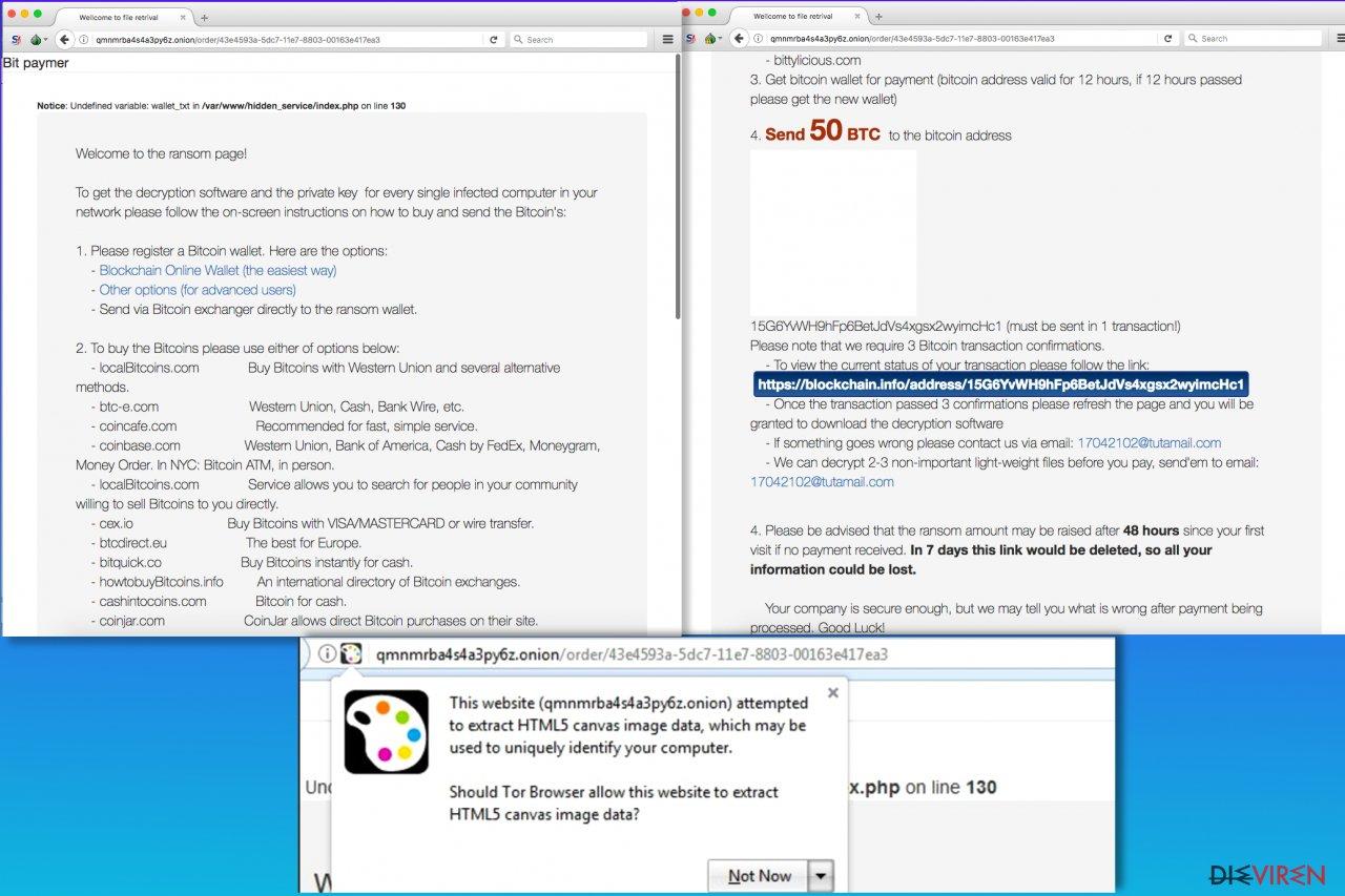 Bitpaymer-Erpressersoftware