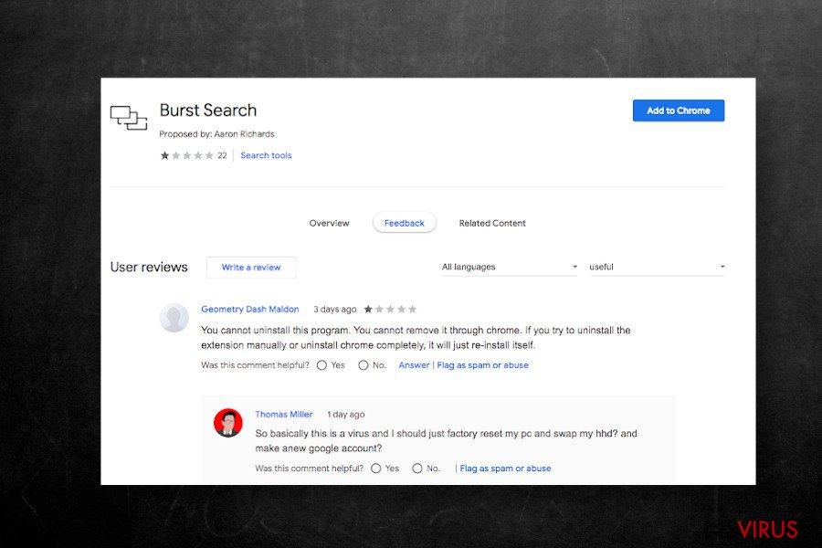 Die Erweiterung Burst Search