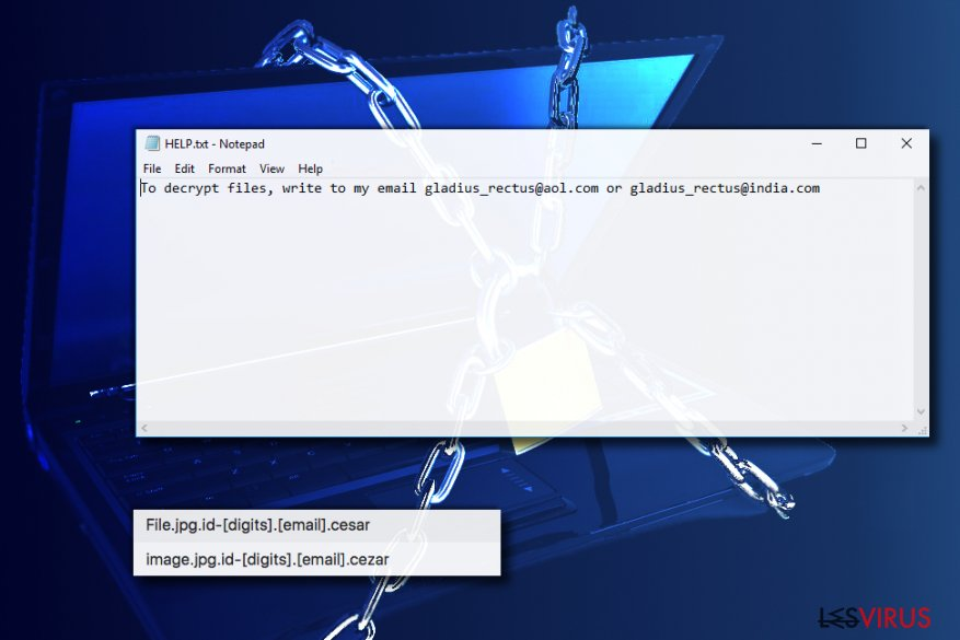 Cezar ransomware virus
