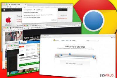 Beispiele für Werbung, die von Chrome-Adware eingeblendet wird