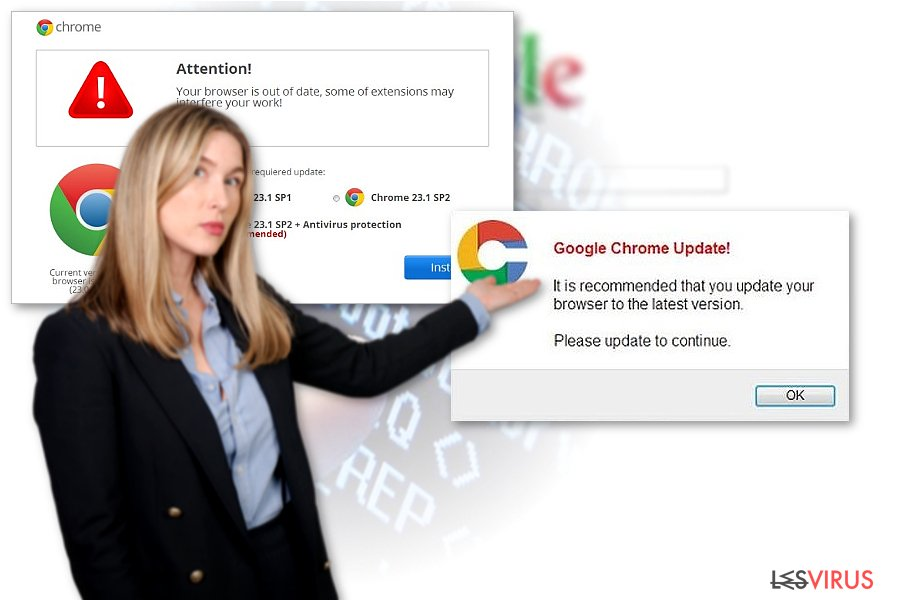 Chrome Weiterleitungsvirus-Screenshot