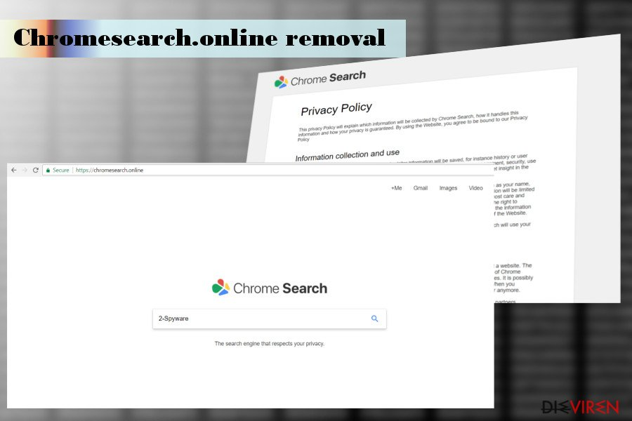 Abbildung Chromesearch.online-Hijacker