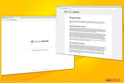 Illustration ChromeSearch.win-Virus