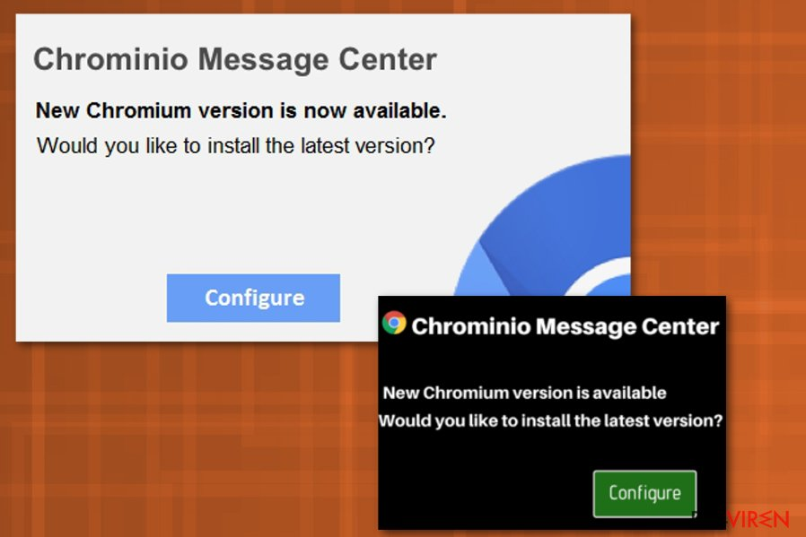 """Chrominio Message Center""-Virus"