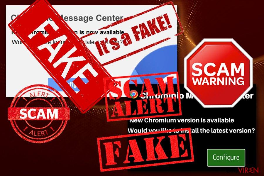 """Chrominio Message Center""-Virus-Screenshot"