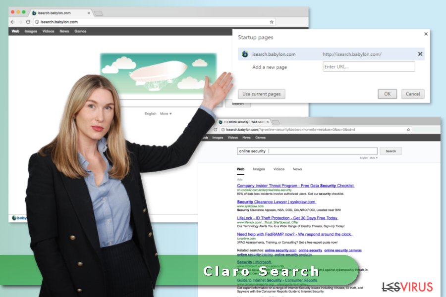 Claro Search Virus-Screenshot