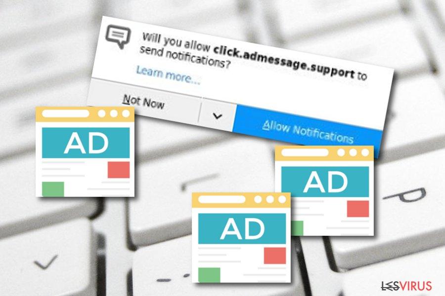 Click.admessage.support-Adware