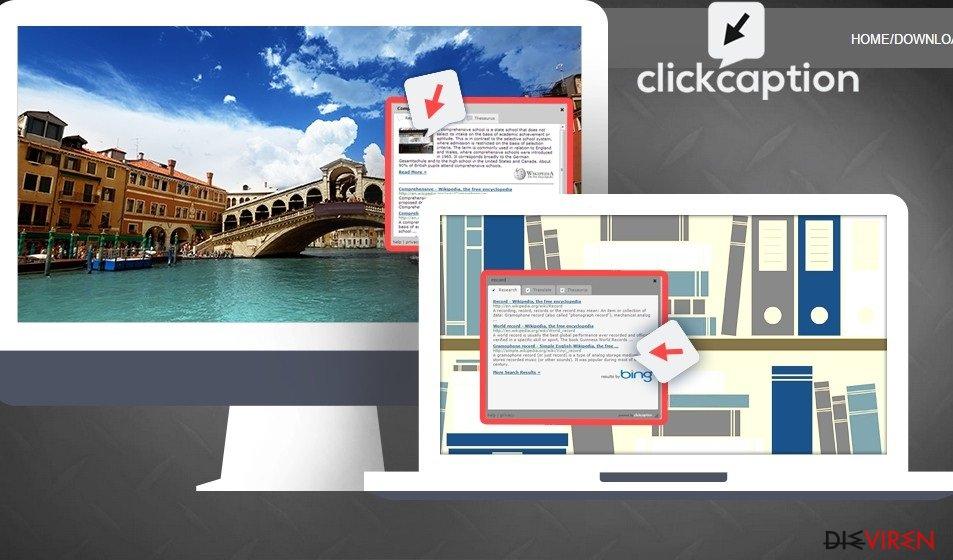 Anzeigen von ClickCaption-Screenshot