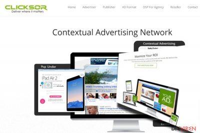 Abbildung der Webseite Clicksor.com