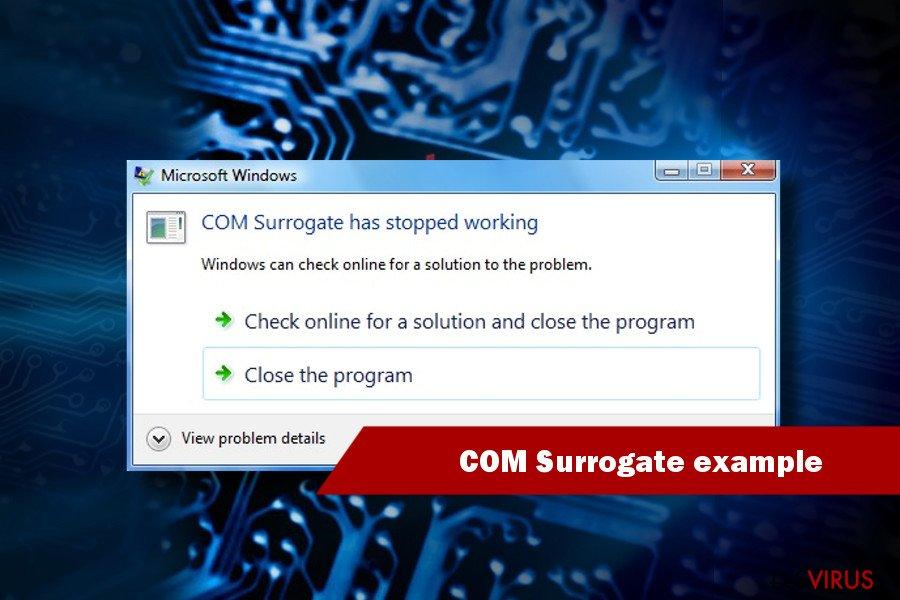 """Beispiel """"COM Surrogate funktioniert nicht mehr"""""""