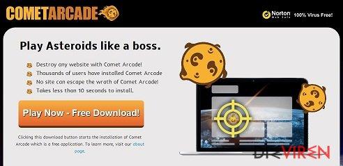 Comet-Arcade-Virus-Screenshot