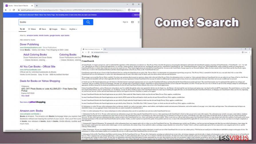 Das potenziell unerwünschte Programm Comet Search