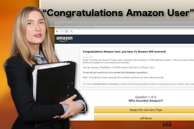 "Adware-Illustration ""Congratulations Amazon User"""